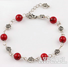 Wholesale blood stone bracelet with extendable chain