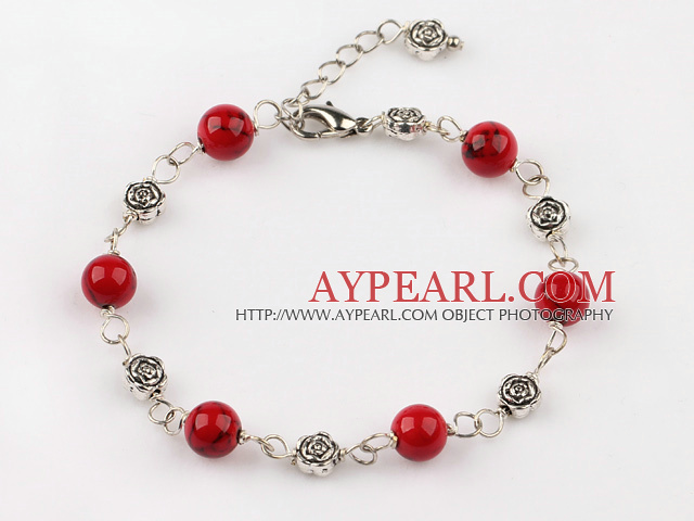 blood stone bracelet with extendable chain