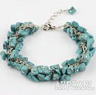 Wholesale black line turquose bracelet with extendable chain