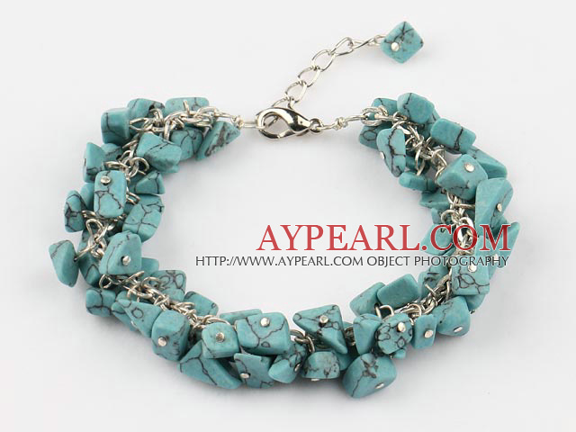 black line turquose bracelet with extendable chain