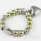 Wholesale acrylic beads bracelet with heart charm