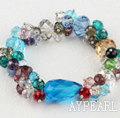 Wholesale multi-color crystal bracelet