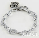 fashion metal chain bracelet with heart charm