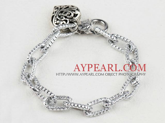 fashion metal chain bracelet with heart charm
