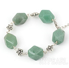 aventurine tibet silver bracelet with extendable chain