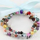 Wholesale pearl multi-stone bracelet