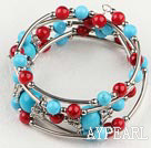 turquoise and red bloodstone bracelet