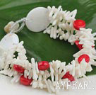 Wholesale white coral bracelet