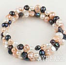 3-colored pearl bracelet