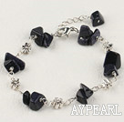 Wholesale purple goldstone chips bracelet