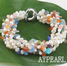 Wholesale pearl multi-stone bracelet
