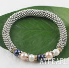Wholesale pearl alloy bracelet