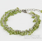 Fashion Chipped Olive Link Bracelet With Lobster Clasp