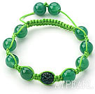 Green rutilated kvarts armband