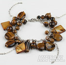 Wholesale tiger eye shell bracelet