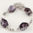 Wholesale pearl amethyst bracelet