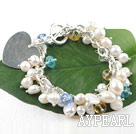 Wholesale pearl and crystal bracelet
