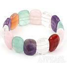 Wholesale elastic multi color gem  bracelet