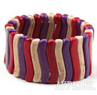 Fet stil Multi Color Turkos Elastisk Bangle Armband