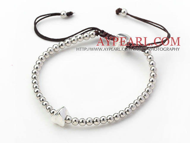 elastic gray color cat's eye bracelet
