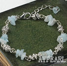 Aquamarine chips armband