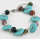 Wholesale Indian agate turquoise necklace