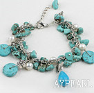 Wholesale turquoise pearl bracelet
