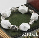 Wholesale Irregular White Sea Shell Stone Beaded Bracelet