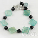 Wholesale blue jade black crystal bracelet