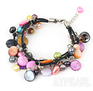 7 inches beautiful multi color pearl shell bracelet