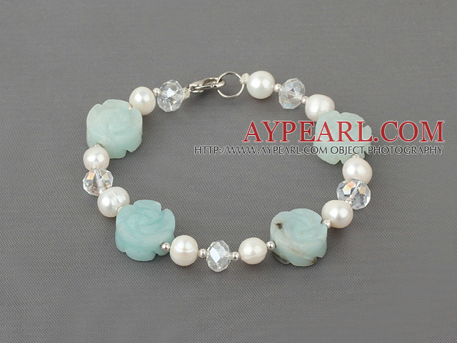 lovely pearl crystal amazon bracelet