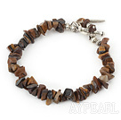 Wholesale tiger eye bracelet with toggle clasp