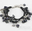 Wholesale blue sandstone bracelet with extendable chain