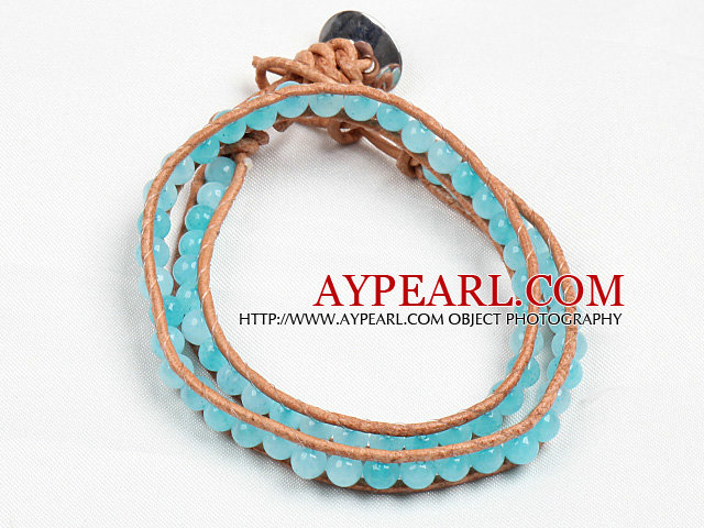 Fashion Style Sponge Kyanite Beads Wrap Bangle Bracelet