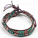Wholesale 6*32mm  turquoise beads elastic bangle bracelet