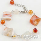 Wholesale natural agate bracelet with extendable chain