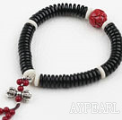 Black Corozo Nut Prayer Bracelet ( Rosary Bracelet )