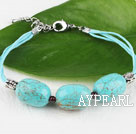 Wholesale lovely turquoise bracelet with extendable chain