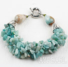 Wholesale New Design Amazon Stone Bracelet with Moonlight Clasp