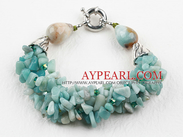 New Design Amazon Stone Bracelet with Moonlight Clasp
