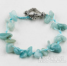Wholesale amazon stone bracelet with toggle clasp