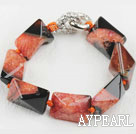 Wholesale 7.5 inches chunky style rutilated agate bracelet