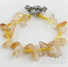 Wholesale 7.5 inches citrine crystal bracelet with toggle clasp