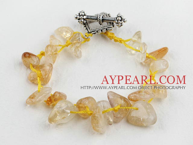 7.5 inches citrine crystal bracelet with toggle clasp
