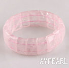 Wholesale 11*20mm rose quartze stretchy bangle bracelet
