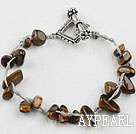 Wholesale 7.5 inches tiger eye bracelet with toggle clasp