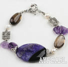 Wholesale 7.5 inches agate crystal bracelet with moonlight clasp