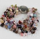 Wholesale multi strand multi color assorted stone bracelet