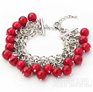Wholesale Red Series 10mm Round Alaqueca Bracelet with Metal Chain