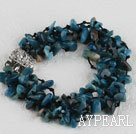Wholesale multi strand gemstone bracelet